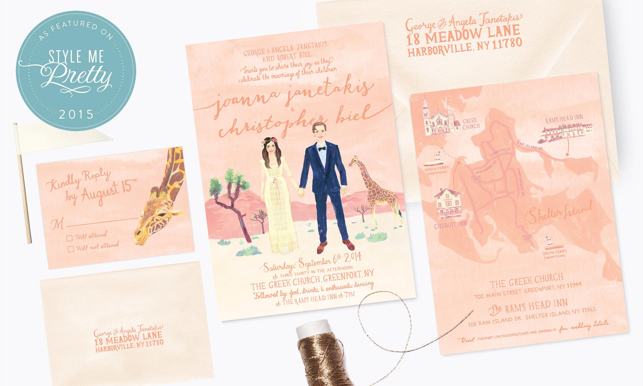 Joanna & Christopher<strong>Custom Wedding Invitation</strong>