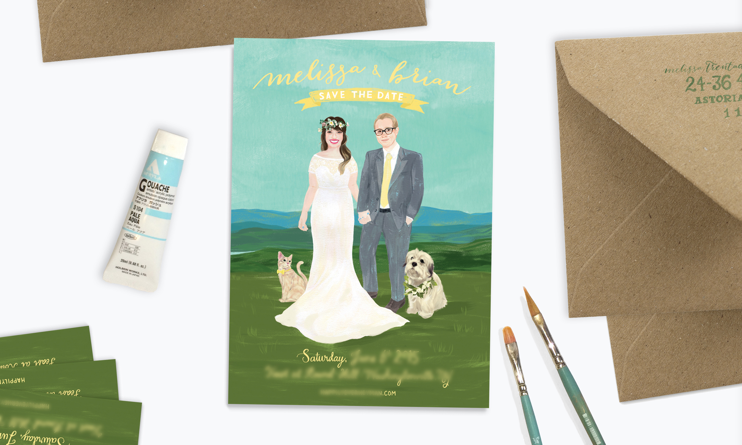 Custom Save the Date by Yay Paper Co.