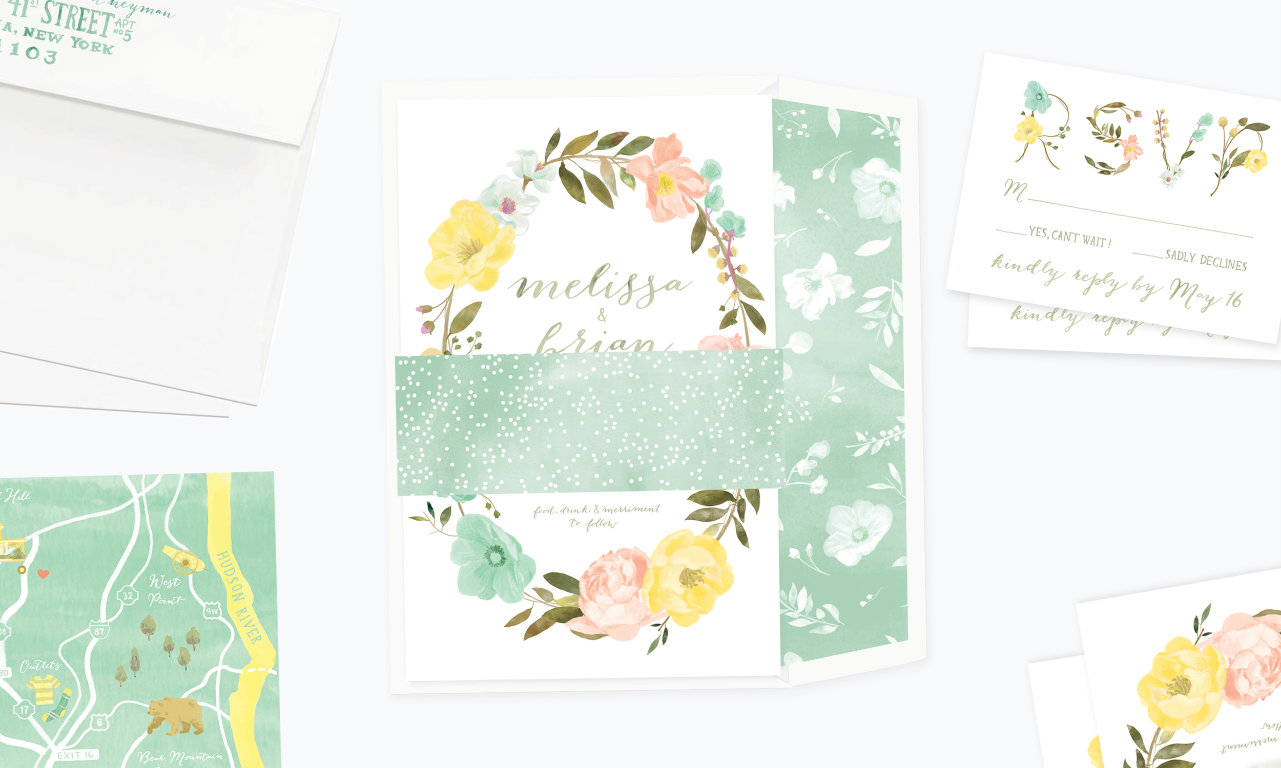 Floral Wreath<strong>Stationery Suite</strong>