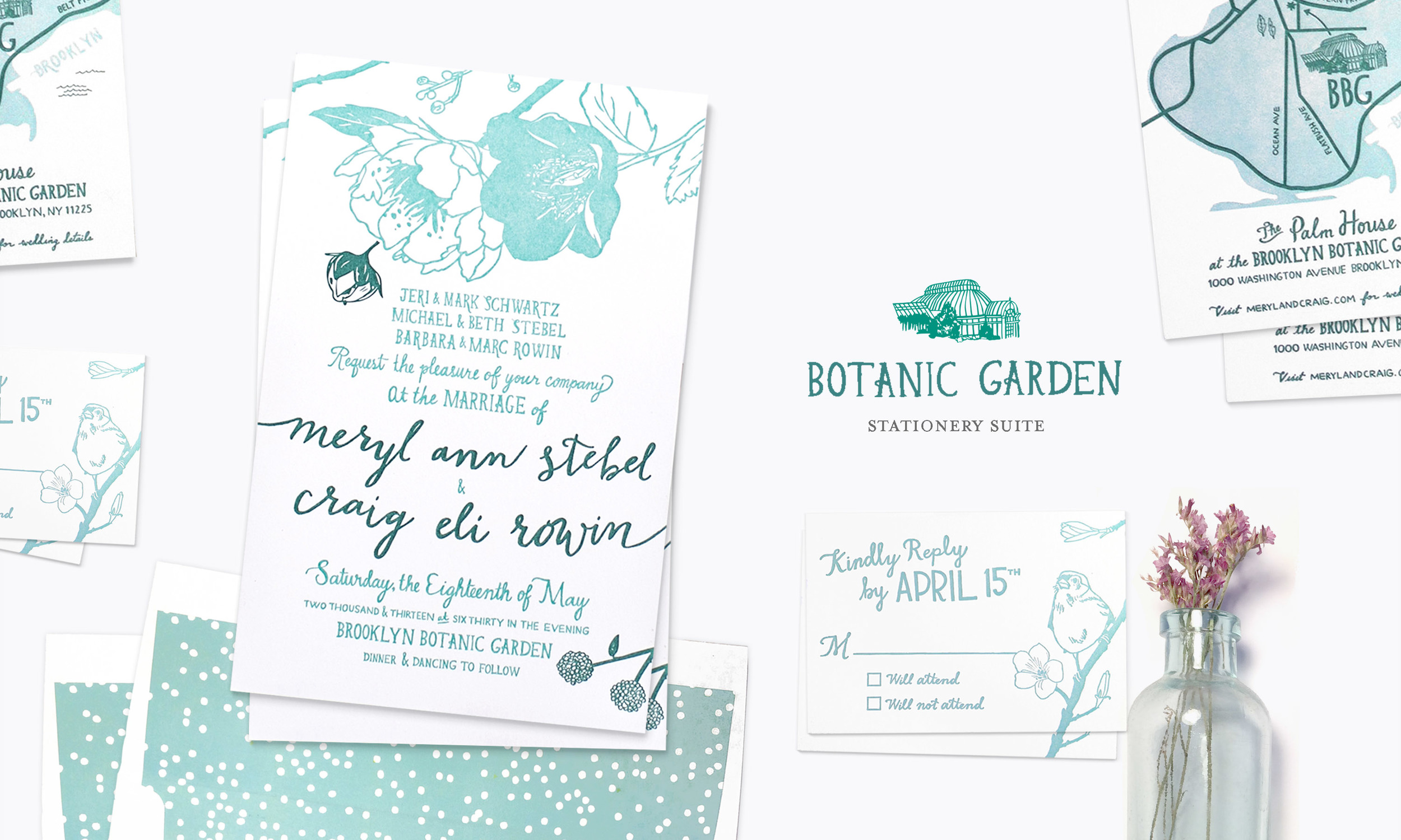 Botanic Garden Wedding Stationery Suite by Yay Paper Co.