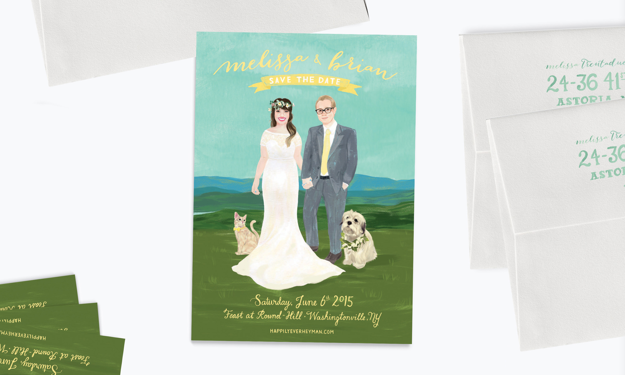Melissa & Brian</a><strong>Custom Save the Date</strong>