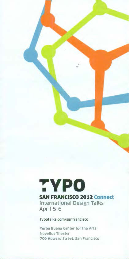 In April 2012, I was one of three onstage hosts for this two day conference on typographic design, along with designers   Kali Nikitas   and   Erik Spiekermann  .   TYPO San Francisco   was organized by FontShop, which also organizes   TYPO conferences   in Berlin and London.