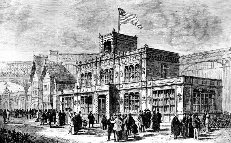 American pavilion, 1878 exposition