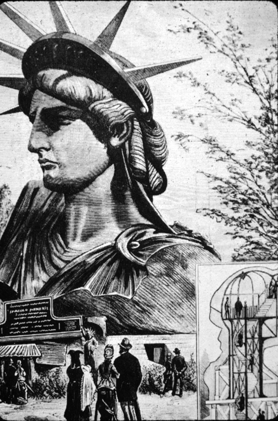 The head of Liberty at the 1878 exposition