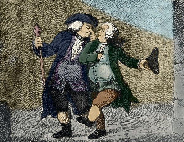 "Thomas Rowlandson ""Walking Up the High Street"" (1786"