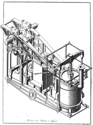 Steamboat Engine Design 1834 exposition