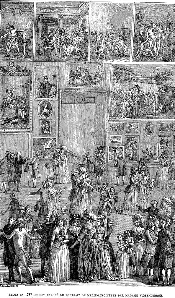 A Paris Salon, 1787
