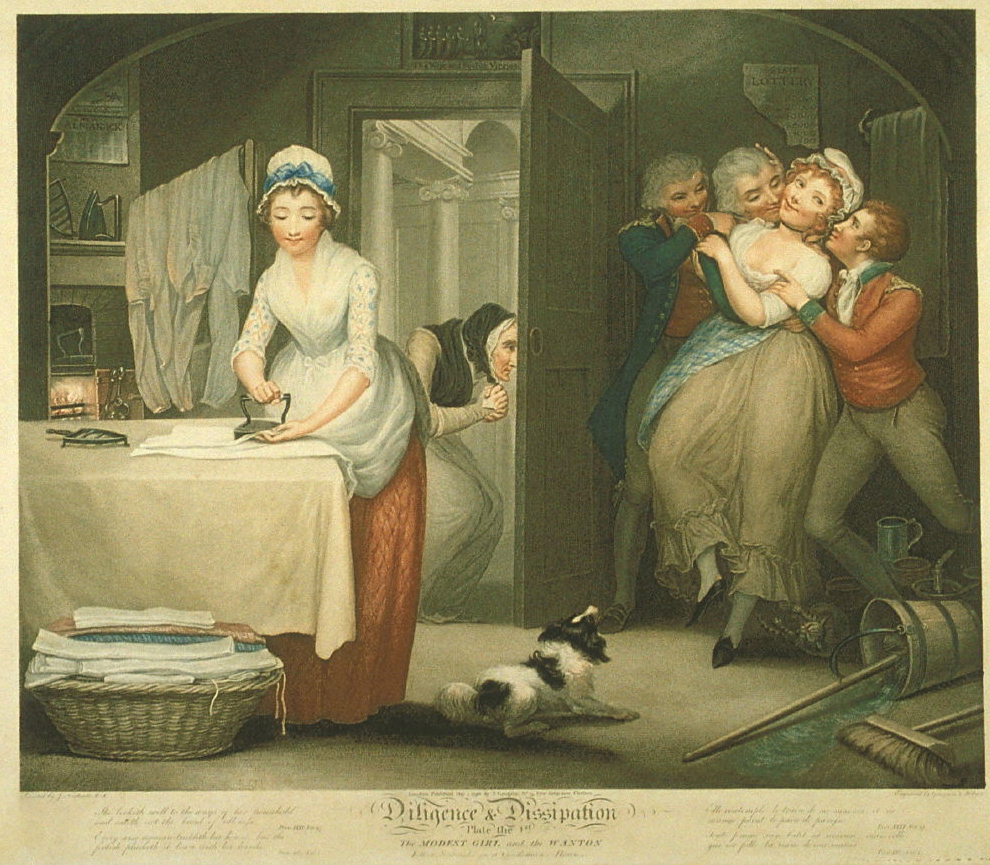 First plate of a series depicting the divergent fates of two working girls