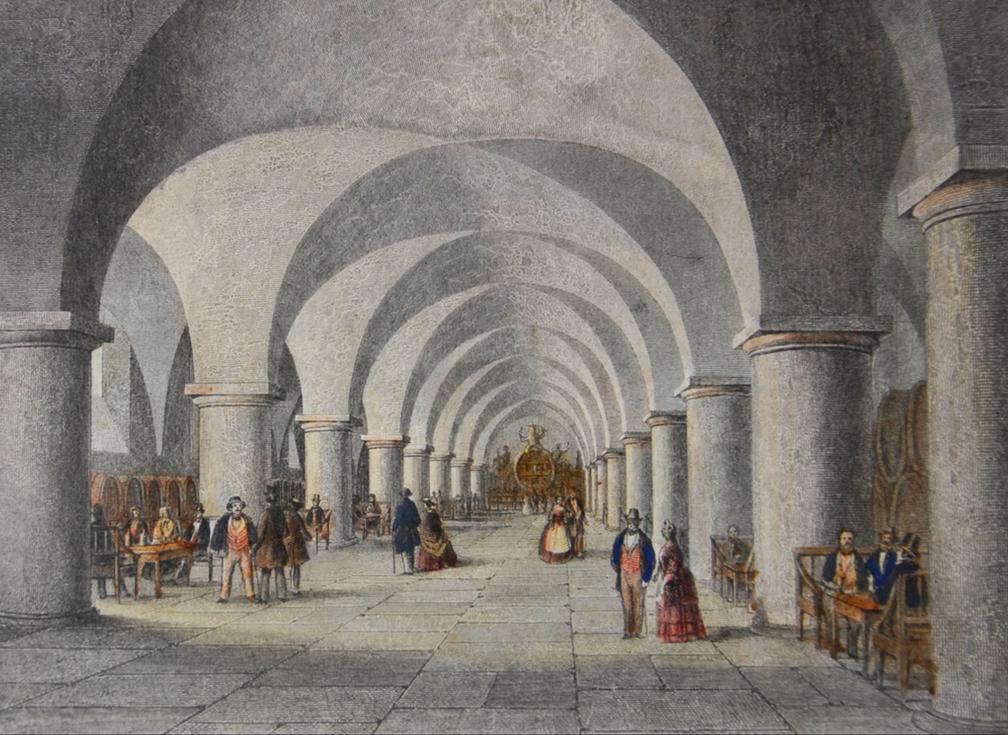 Bremen Rathauskeller in 1860