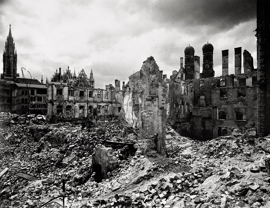 Aerial bombing damage in Munich