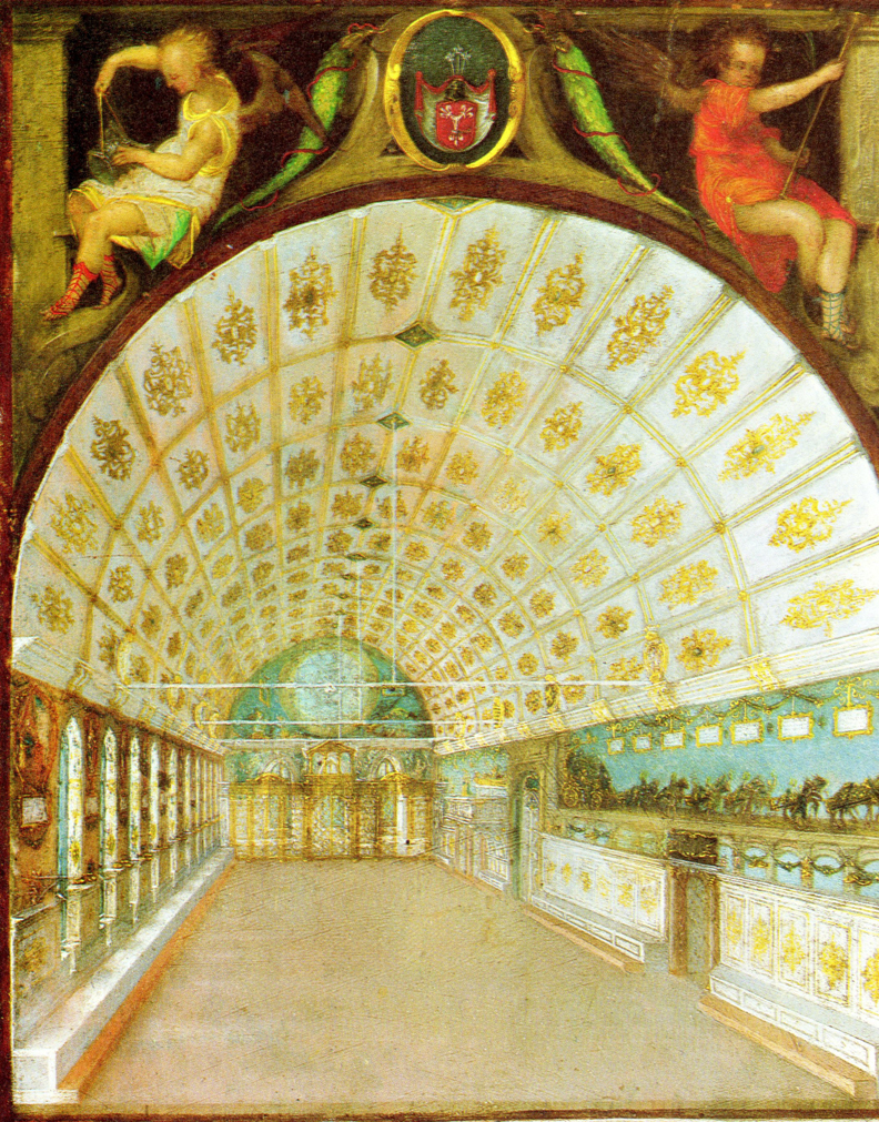 The Dürer Grand Hall, painted by Dürer 1521-1530, as seen in 1622