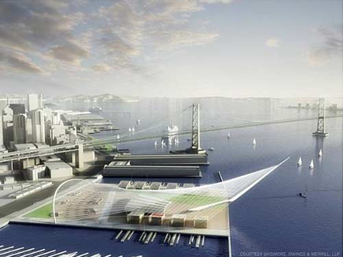 Proposal for Americas Cup complex at Piers 30-32 (2013)