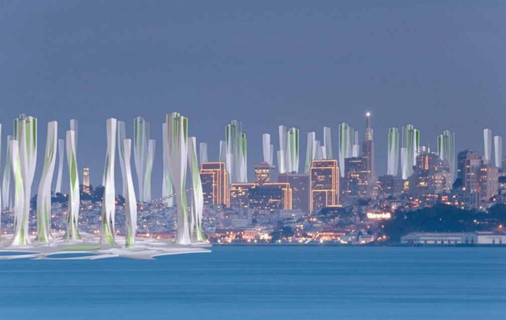 San Francisco as seen by the IwamotoScott Hydro-Net project (2008)