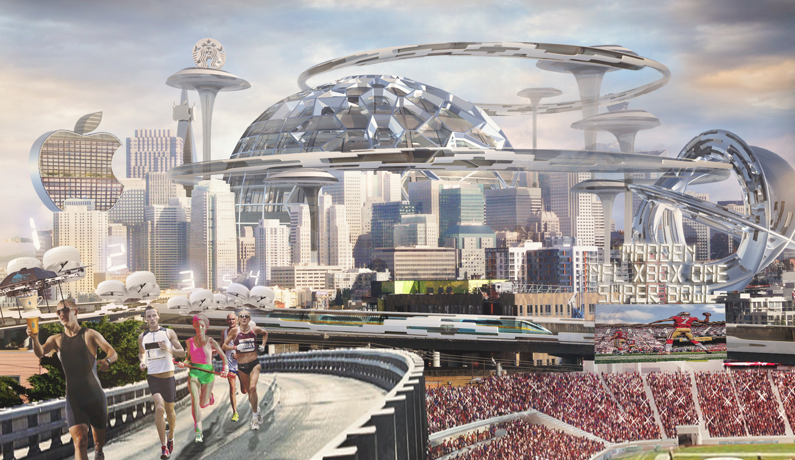 Amazon Dome, 49er Stadium, and more
