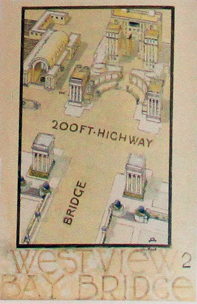 Maybeck plan, view looking west (1939)