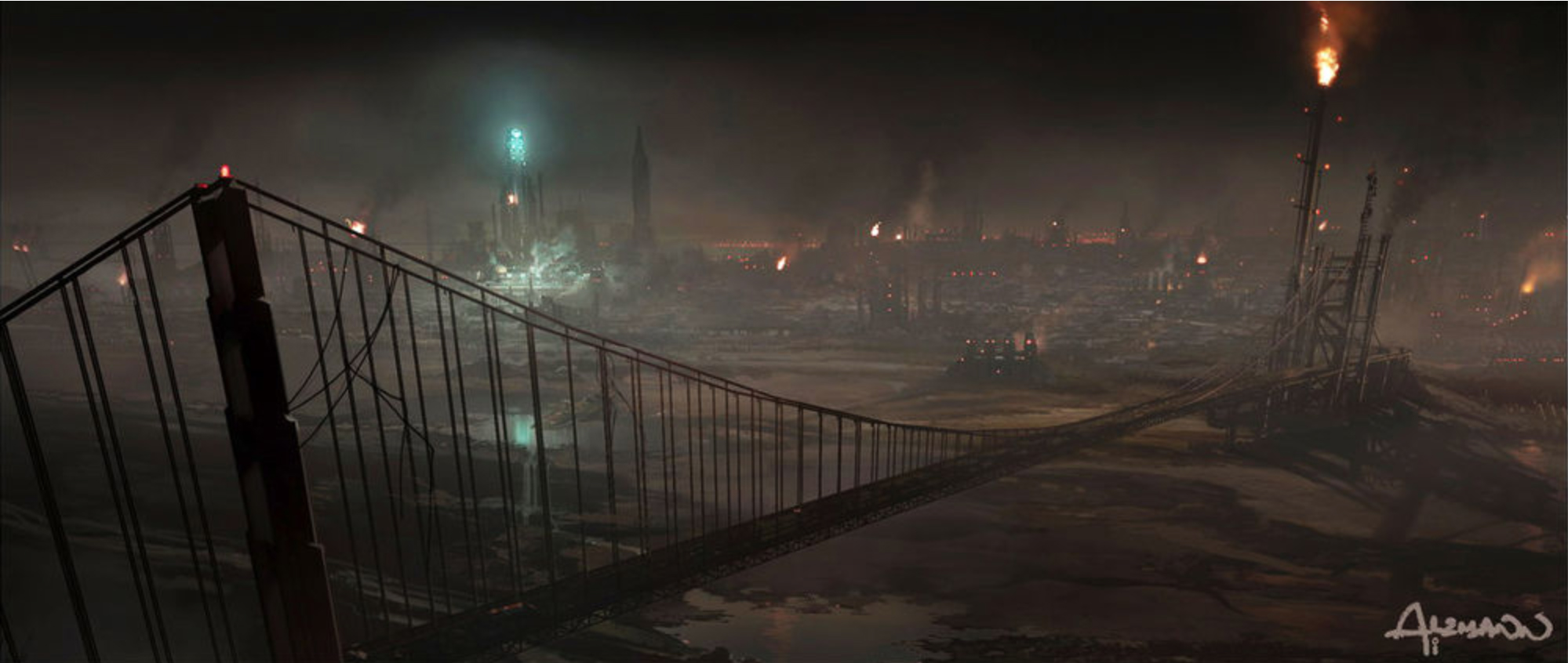 Concept painting for   Terminator: Salvation   by Christian Alzmann (2009)