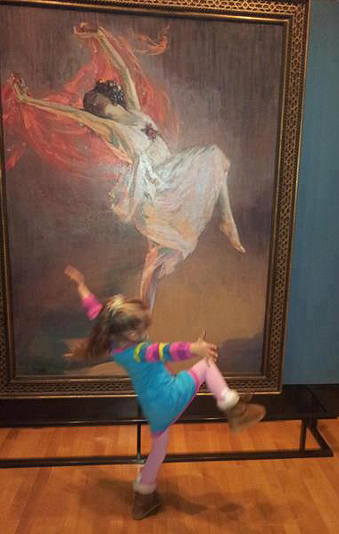"The painting is ""Anna Pavlova,"" by John Lavery"