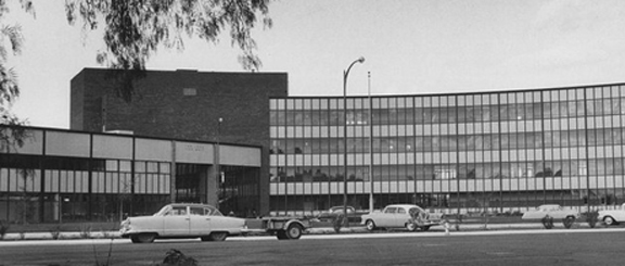 The old city hall was replaced by this new structure in 1958, which in turn was replaced in 2005 by the  followiung building