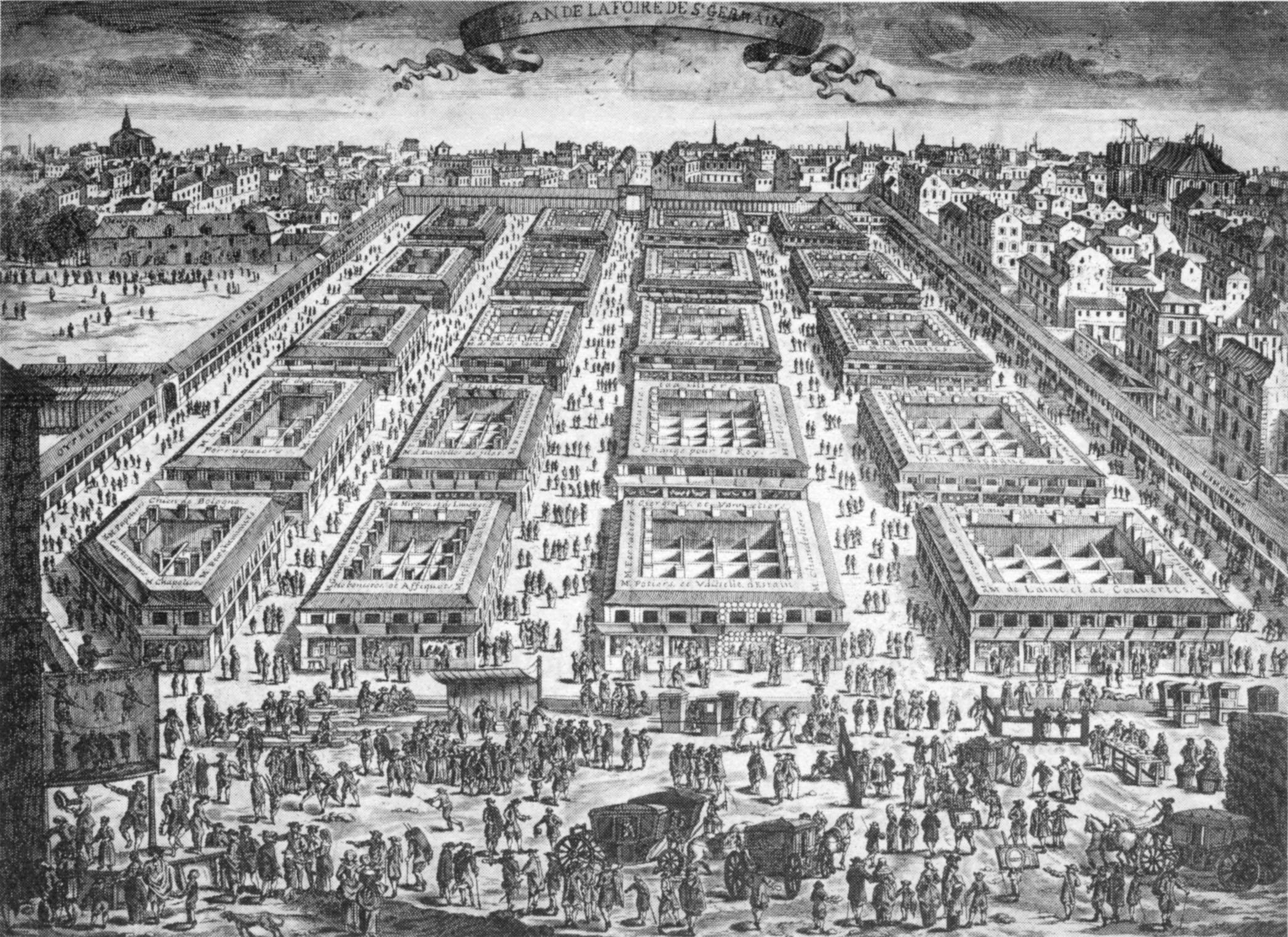 The Saint-Germain Fair in 1670