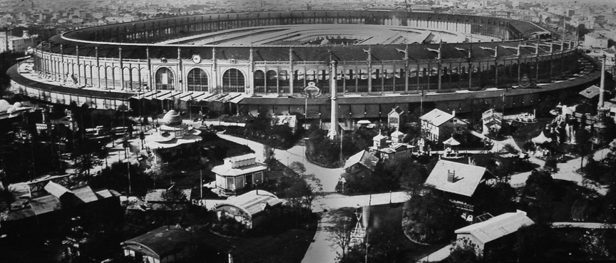 Aerial photograph of the 1867 exposition by Nadar (?)