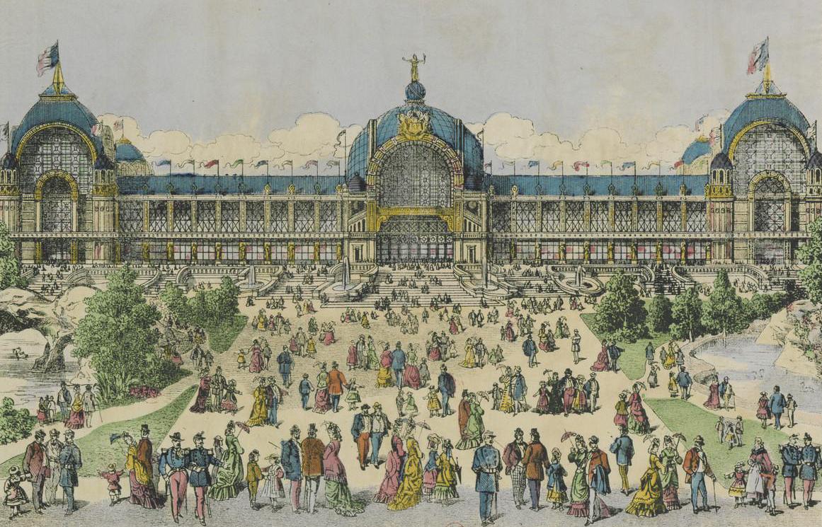 Facade of the main exposition building