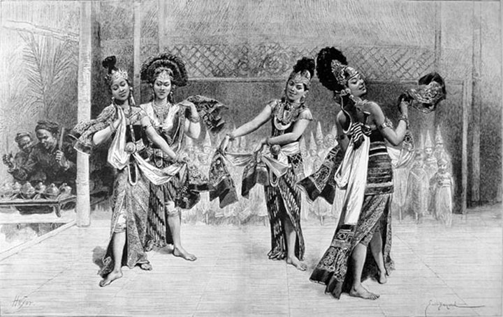 Javanese dancers at the 1889 exposition