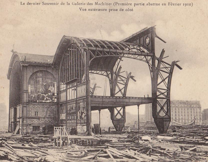 Destruction of the  Galerie des Machines , 1910