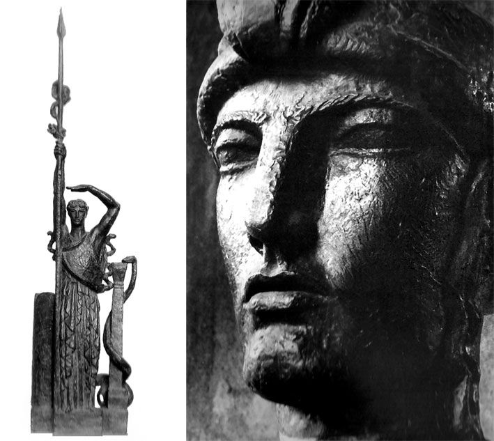 """La France"" by Antoine Bourdelle (original currently in the city of Briançon)"
