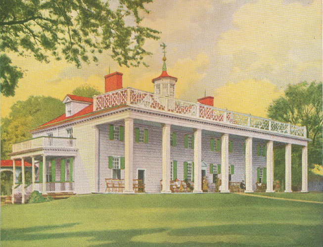 Mount Vernon Reconstruction at the 1931 Exposition, by Sears and Roebuck ( click here for the story of its construction )
