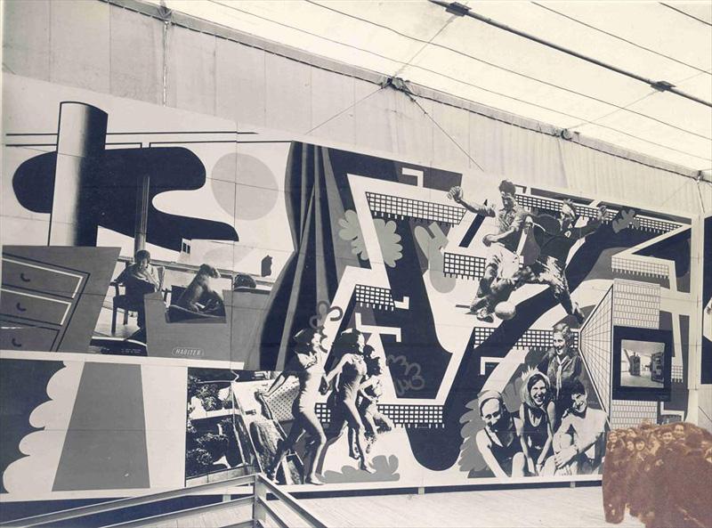 Mural in Le Corbusier's  Pavilion de l'Esprit Nouveau