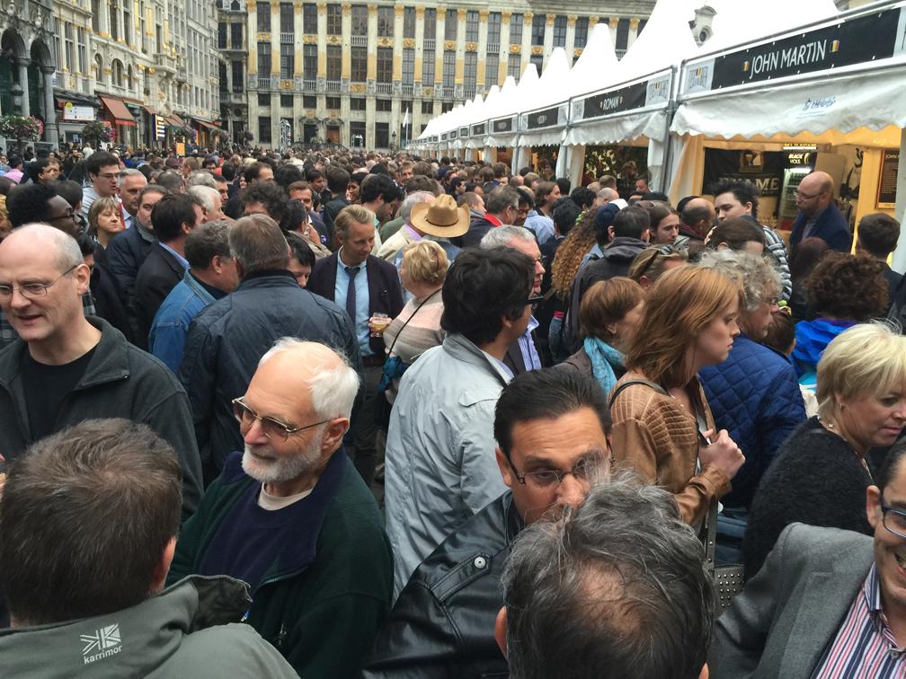 Lots of people, lots of beer