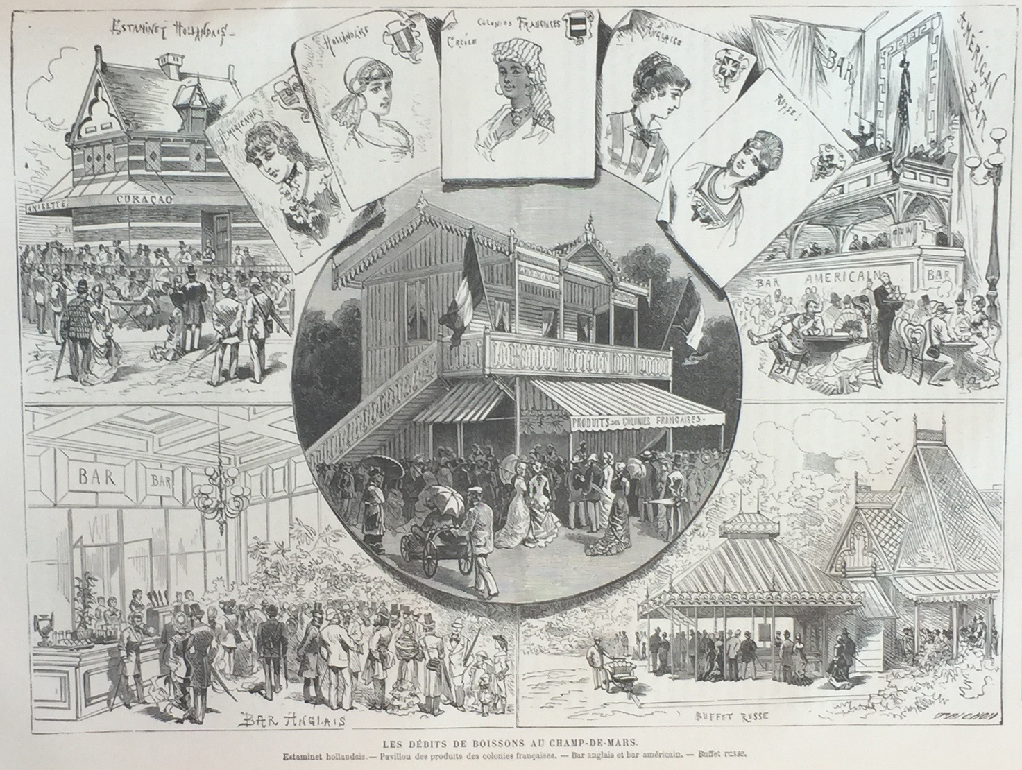 Bars and Buffets at the Exposition( Click the image for a lightbox view )