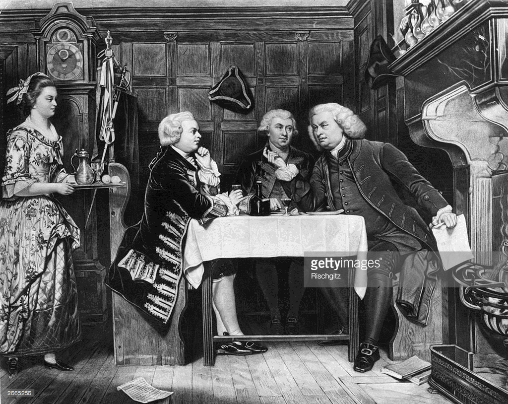 Johnson, Boswell and Goldsmith at the Mitre Tavern, by Eyre Crow3 (Getty Images)