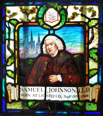 Stained Glass of Samuel Johnson in the Lichfield Cathedral