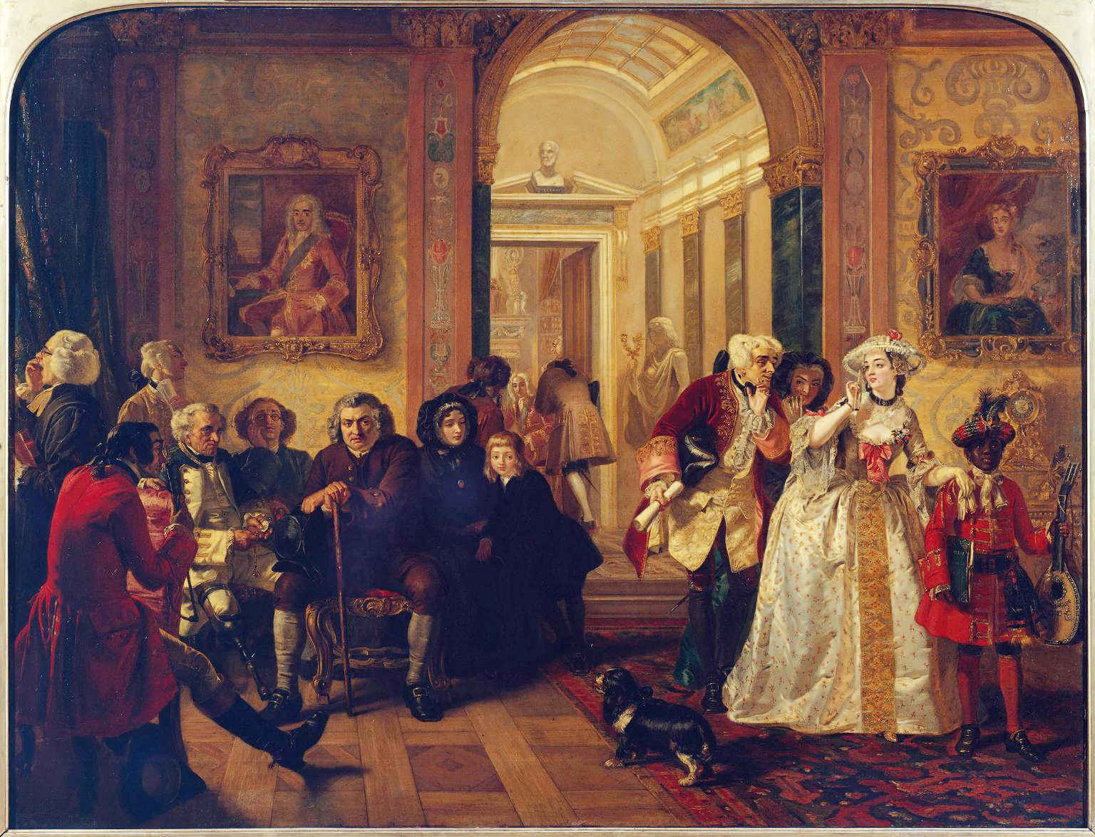 """Edward Matthew Ward, """"Dr. Johnson in the Waiting Room of Lord Chesterfield"""" (1845) -- Click the image for a larger view"""