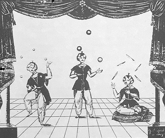 Indian Jugglers in Vienna, 1830