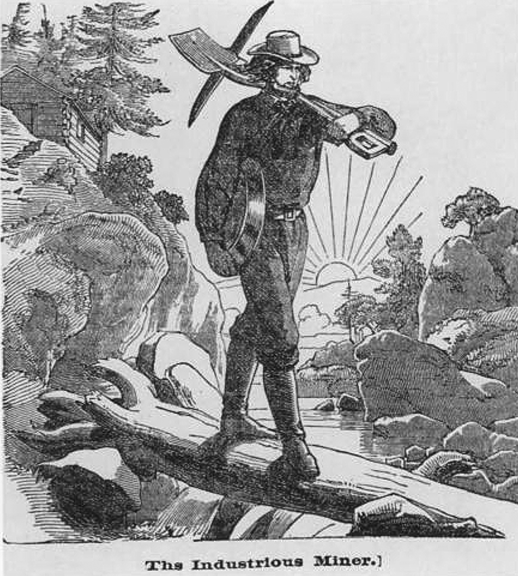 Charles Christian Nahl, from  The Idle Miner and the Industrious Miner (1854)