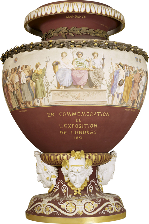 Sevres Commemorative Vase, designed by Jean-Lèon Gérûme   Click here for a view of the reverse side