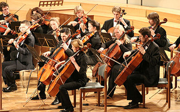 Cellos and violas bowing