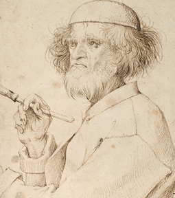 Possible self-portrait of Bruegel, c. 1525-1569