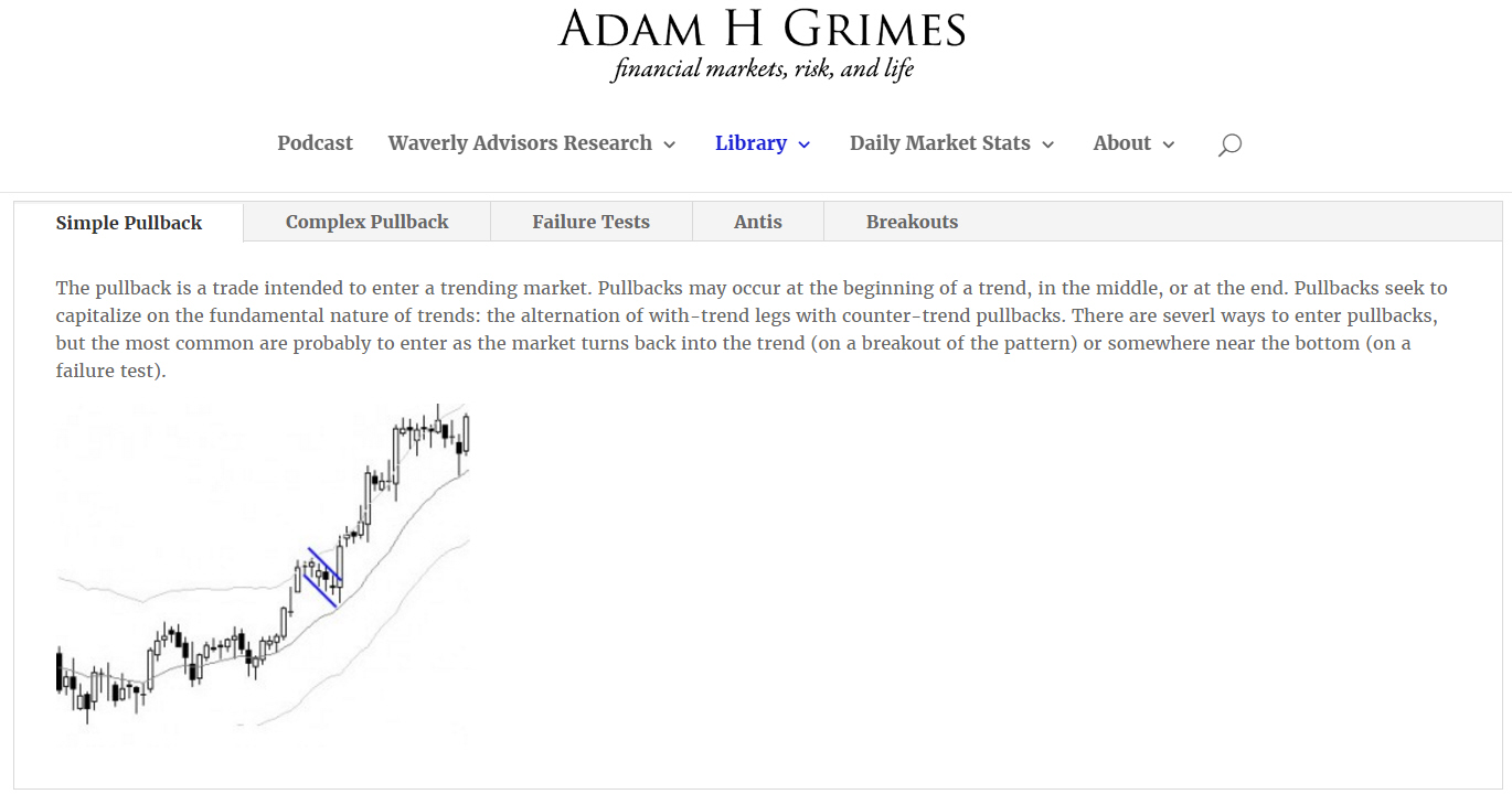 Useful trading patterns. Source:  Adam Grimes's blog .