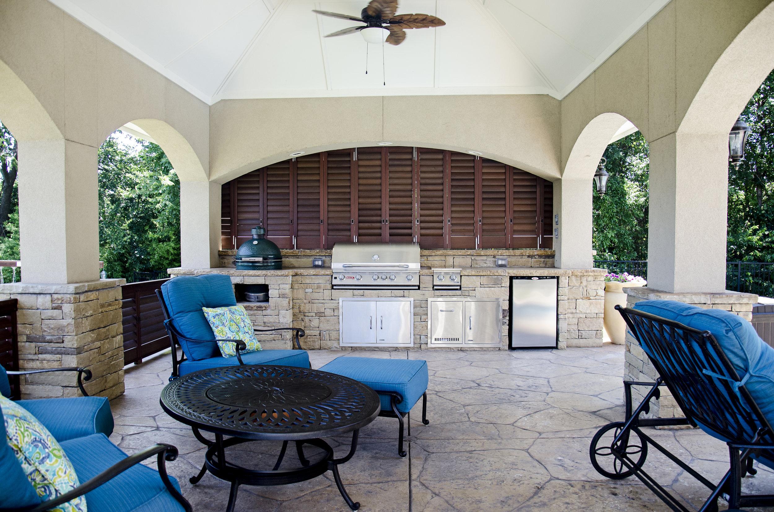Walnut Aluminum Shutters - Outdoor Kitchen.jpg