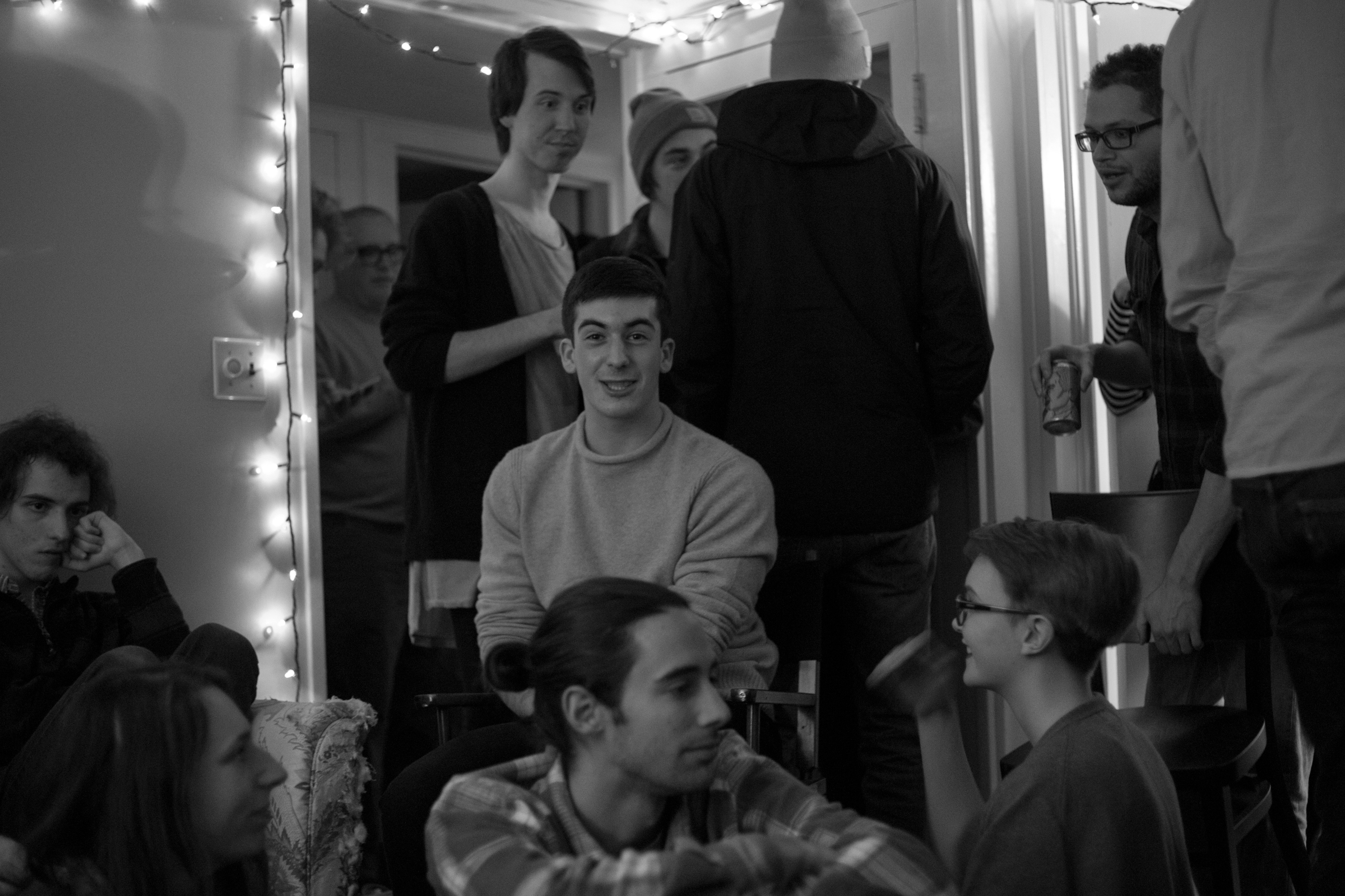 Lukas Hermann surrounded by other Tweehousers / Unknown photographer