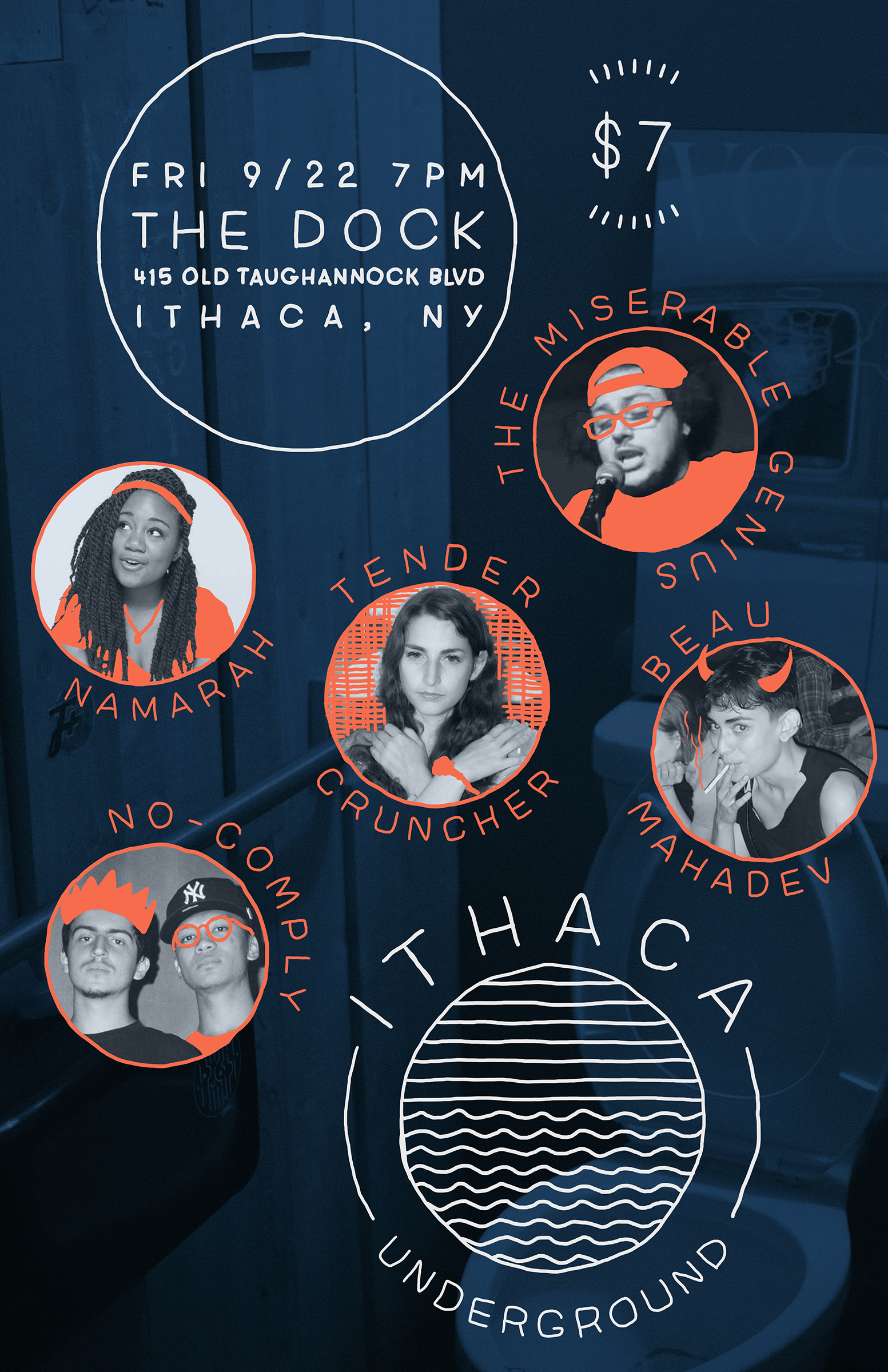 Poster for Ithaca Underground. 2017.