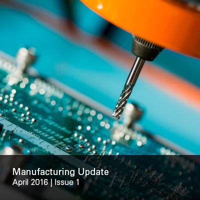 Manufacturing Update Issue 1