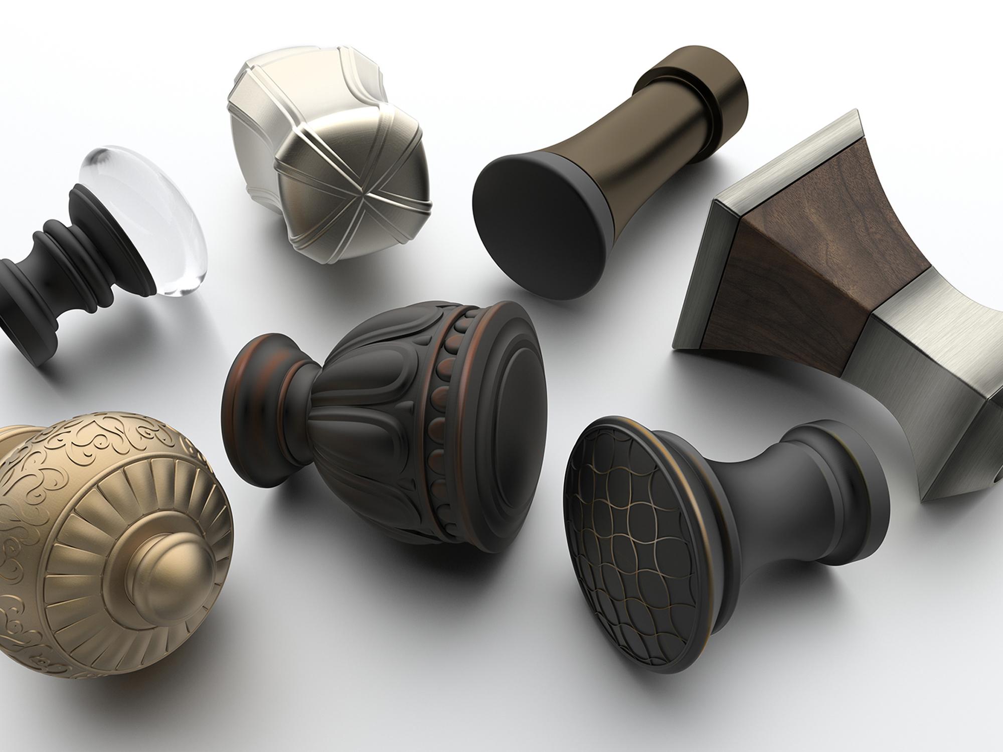 KIRSCH     Designer Metal Finials