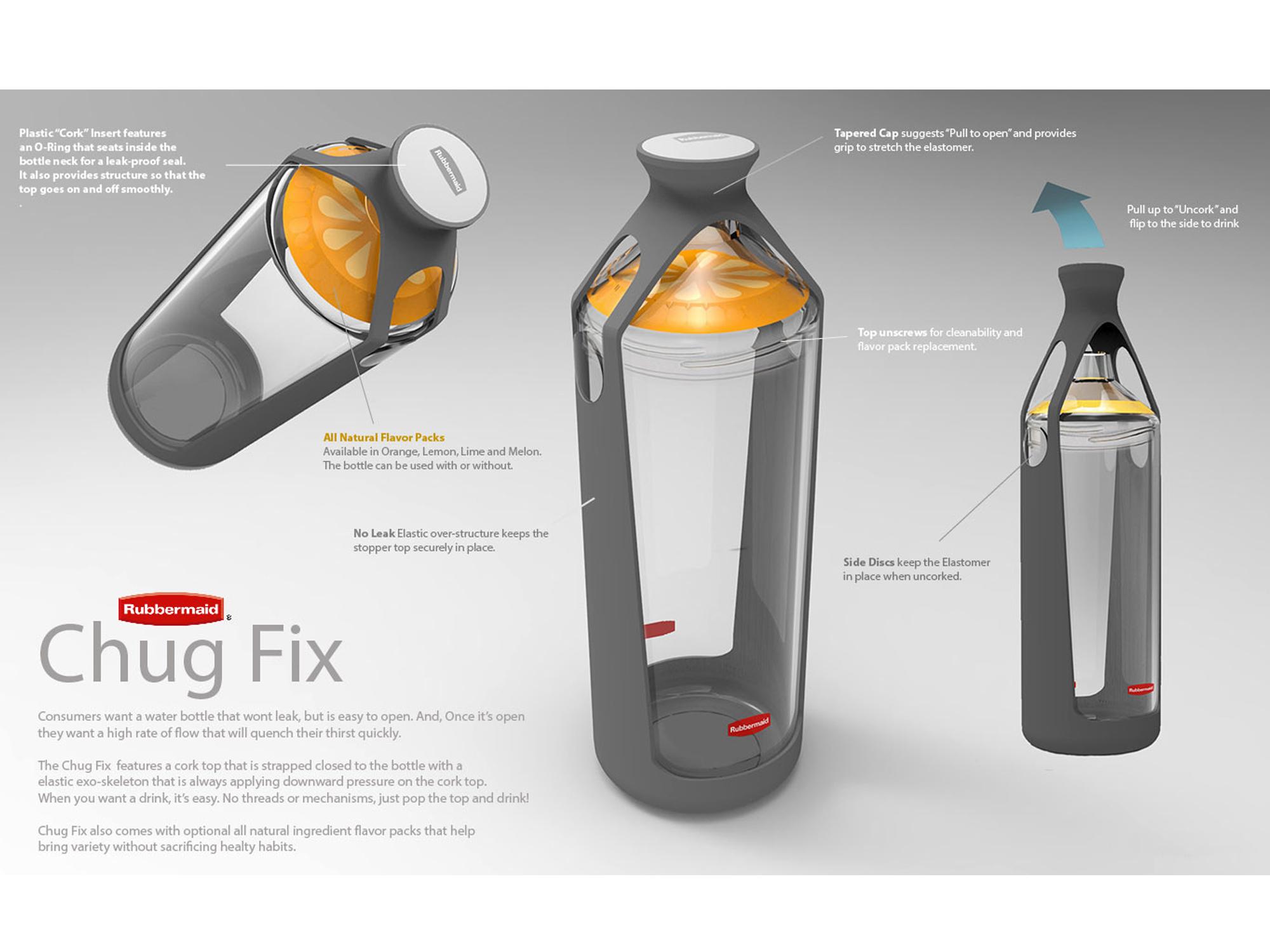 RUBBERMAID     Chug Fix Water Bottle