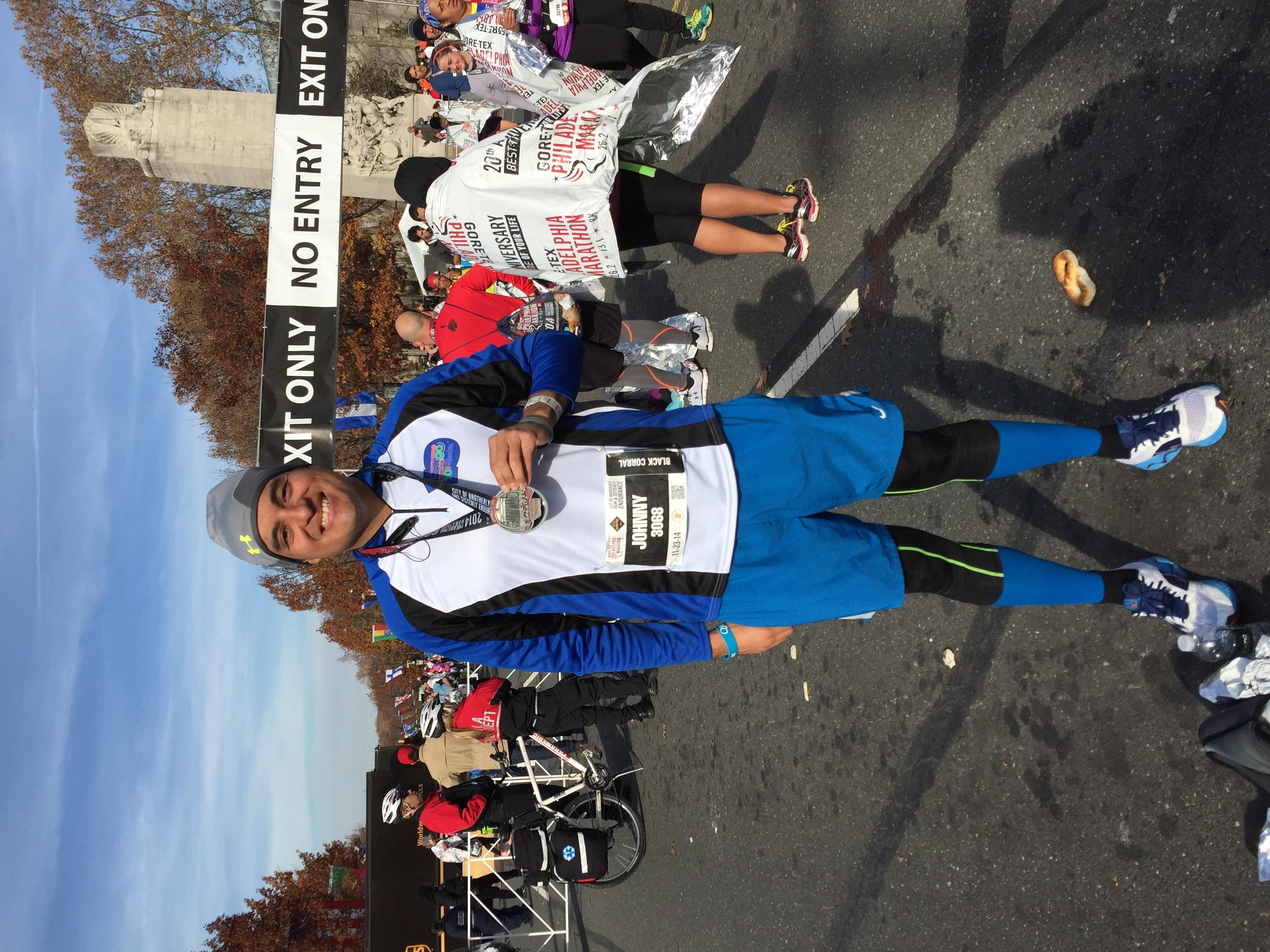 Philadelphia Marathon completed
