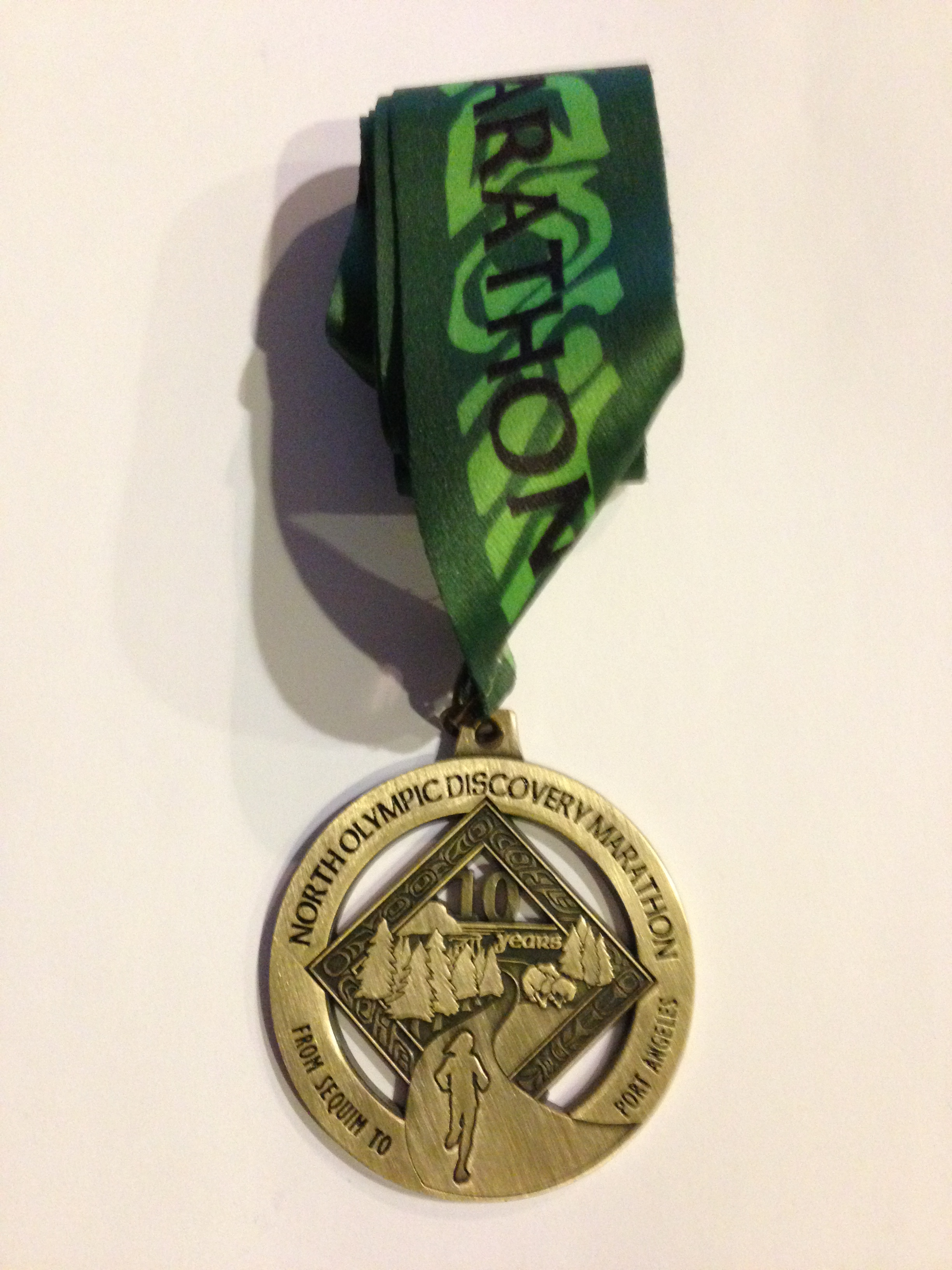 NORTH OLYMPIC DISCOVERY MARATHON MEDAL