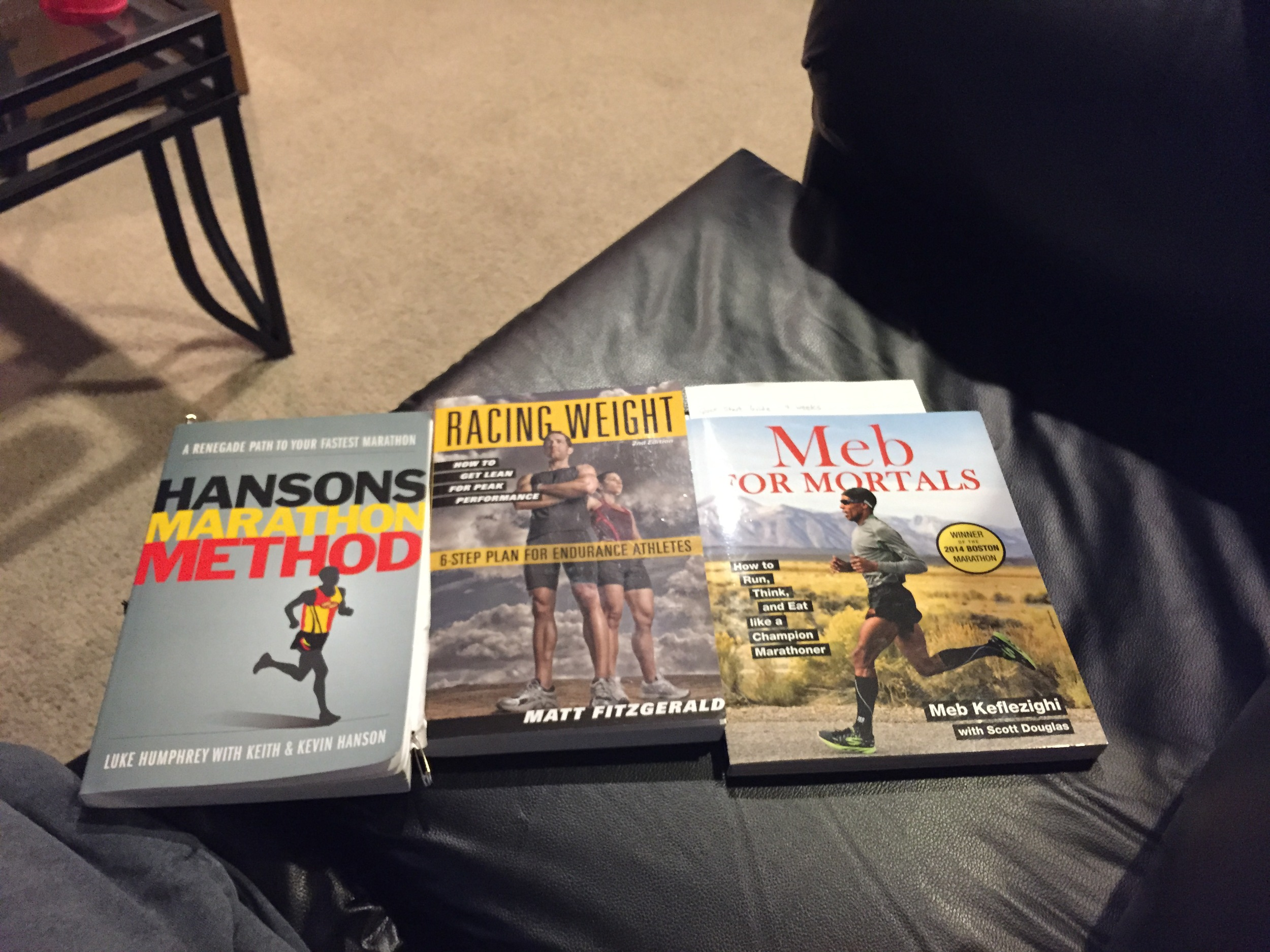 You know you are a runner when you have these in your library
